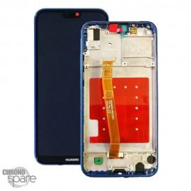 Ecran LCD + Vitre Tactile Huawei P20 Lite/Nova 3E Bleu avec chassis