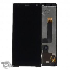 Ecran LCD + vitre tactile Noir Sony Xperia XZ2 avec chassis