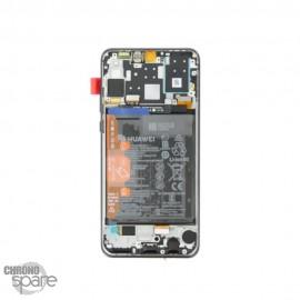 Bloc écran LCD + vitre tactile + batterie Huawei P30 Noir (officiel)