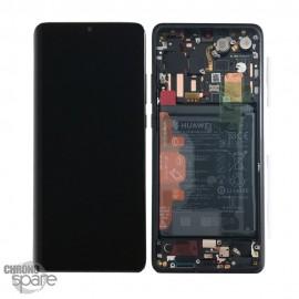 Bloc écran LCD + vitre tactile + batterie Huawei P30 Lite Noir (officiel)