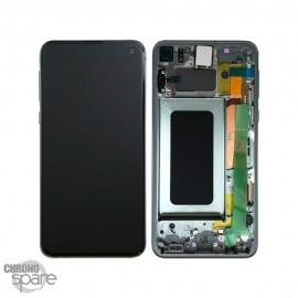 Ecran LCD + Vitre Tactile + châssis noir Samsung Galaxy S10 E G970F (officiel)