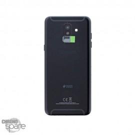 Vitre arrière +vitre caméra Noire Samsung Galaxy A6 2018