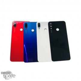 Vitre arrière + lentille caméra Blanche Huawei P Smart Plus