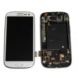 Vitre tactile et écran LCD Galaxy S3 blanc i9300 (Compatible AAA)