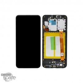 Ecran LCD + Vitre Tactile + châssis noir Samsung Galaxy A20e A202F (officiel)