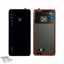 Vitre arrière + lentille caméra Noire Huawei P30 Lite (Officiel)