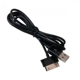 Câble USB noir pour Samsung Galaxy Tab 1/2 Note N8000