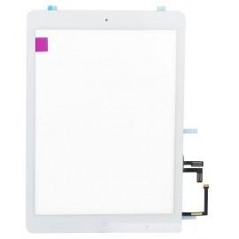 Vitre tactile blanche + bouton home + scotch 3M iPad Air