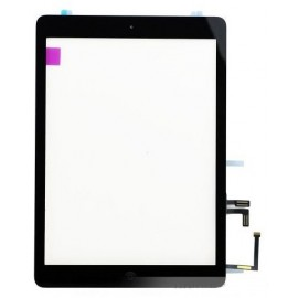 Vitre tactile noire + bouton home + scotch 3M iPad Air