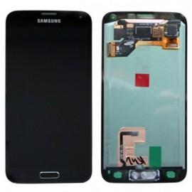Vitre tactile et écran LCD Samsung Galaxy Alpha G850 Gris/Noir (officiel) GH97-16386A