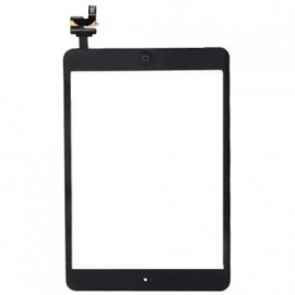 Vitre tactile noire + bouton home + scotch 3M iPad Mini Fournisseur T