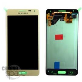 Vitre tactile et écran LCD Samsung Galaxy Alpha G850 Or (officiel) GH97-16386B