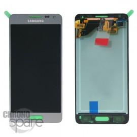 Vitre tactile et écran LCD Samsung Galaxy Alpha G850 Silver (officiel) GH97-16386E
