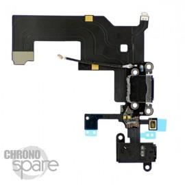 Nappe dock alimentation et jack audio iPhone 5 noir