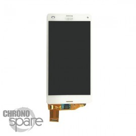 Ecran LCD + vitre tactile sans châssis Blanc Xperia Z3 Compact (compatible AAA)