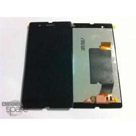 Ecran LCD et vitre tactile (sans châssis) Noir Sony Xperia Z