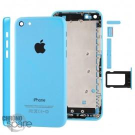 Coque arrière sans nappe, avec support carte SIM, iPhone 5C Bleu
