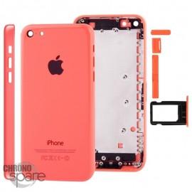 Coque arrière sans nappe, avec support carte SIM, iPhone 5C Rouge