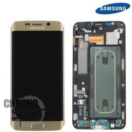 Vitre tactile + Ecran LCD Samsung Galaxy S6 Edge Plus (G928F) GH97-17819A Or Stellaire (officiel)