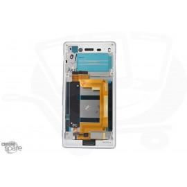 Ecran LCD + Vitre tactile blanche + Chassis pour Sony Xperia M4 Aqua E2303 (officiel) 124TUL0010A