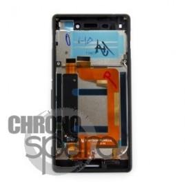 Ecran LCD + Vitre tactile Noire + Chassis Noir Sony Xperia M4 Aqua E2303 (officiel) 124TUL0011A