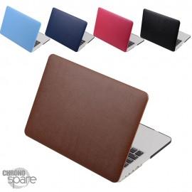 Coque de Protection PU imitation cuir Fuschia - MacBook Air 13.3