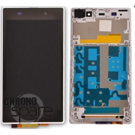 Ecran LCD + Vitre Tactile Noire + Chassis Sony Xperia Z1 C6903 (officiel) 1276-5214