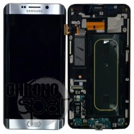 Vitre Tactile + Ecran LCD Samsung Galaxy S6 Edge + G928F (officiel) GH97-15556B Argent