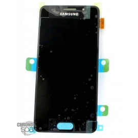 Bloc LCD + Vitre tactile noire Samsung A3 2016 A310F (officiel) GH97-18249B