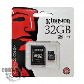 Carte mémoire Kingston Micro SDHC 32Go Class 10 + Adaptateur