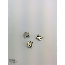 Connecteur Micro USB 4 pattes verticales / pins longs