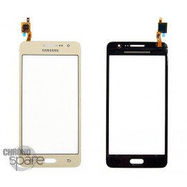 Vitre tactile Or Samsung Galaxy Grand Prime 4G G531F GH96-08757A (officiel)