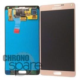 Vitre tactile et écran LCD Samsung Galaxy Note 4 N910F Or GH97-16565C (officiel)