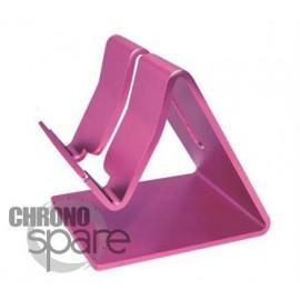 Support aluminium Fushia smartphone / tablette