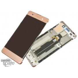 Ecran LCD & Vitre tactile Or Rose Sony Xperia XA (officiel) 78PA3100050