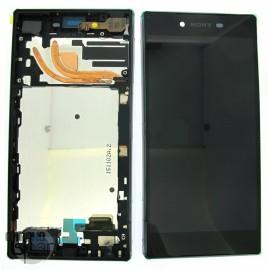 Ecran LCD + Vitre Tacile + Chassis Argent chromé Sony Xperia Z5 Premium E6853 (officiel) 1299-0614
