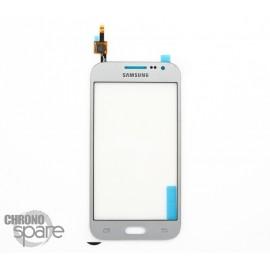 Vitre tactile Argent Samsung Galaxy Core Prime G360F GH96-07740C (officiel)