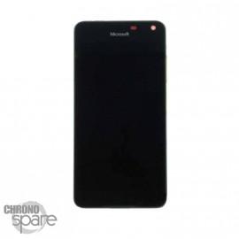 Bloc Vitre + LCD Nokia Lumia 650 Noir avec chassis (officiel)