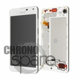 Bloc Vitre + LCD Nokia Lumia 650 Blanc avec chassis (officiel)