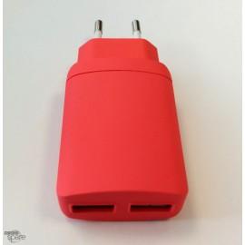 Chargeur secteur double USB 3.4A Noir