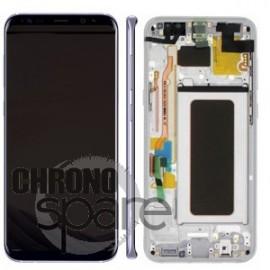 Ecran LCD + Vitre Tactile argent Samsung Galaxy S8 G955F (officiel) GH97-20470B
