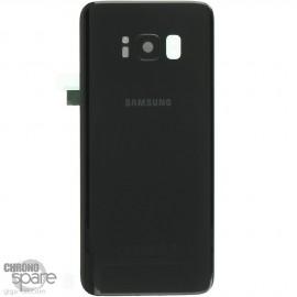 Vitre arrière+vitre caméra Noir Carbone (officiel) Samsung Galaxy S8 G950F