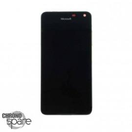 Bloc Vitre + LCD Nokia Lumia 650 / 650 Dual Noir avec chassis (Compatible) 00814H5