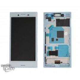 Ecran LCD et Vitre tactile bleu Sony Xperia X compact F5321 (officiel)