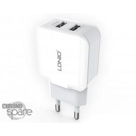 Chargeur secteur LDNIO Double USB 2.1A Bulk