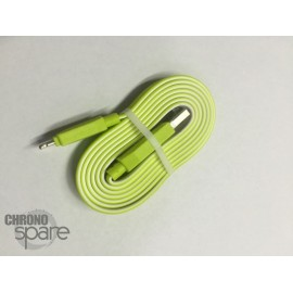 Câble plat bicolore Micro USB - Vert