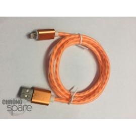 Câble Torsade soft touch Micro USB - Orange