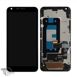 Bloc écran LCD et Vitre Tactile noir LG Q6 (Officiel)