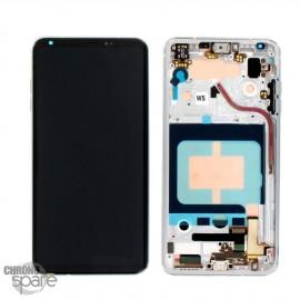 Bloc écran LCD et Vitre Tactile argent LG V30 (Officiel)