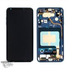 Bloc écran LCD et Vitre Tactile bleu LG V30 (Officiel)